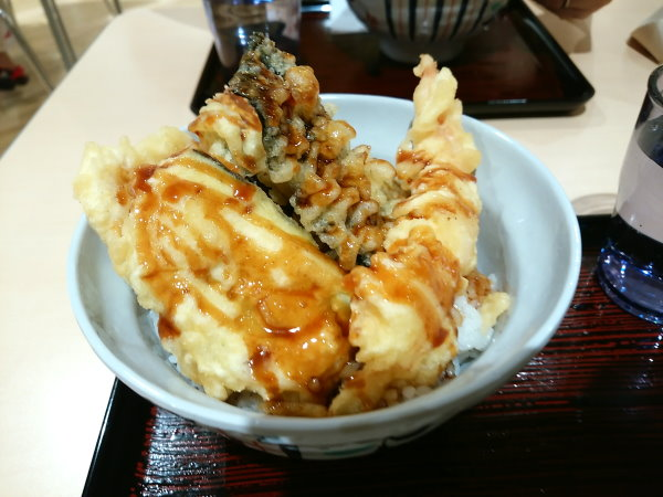 イオンモール広島祇園 フードコート 咲きや 海老天丼