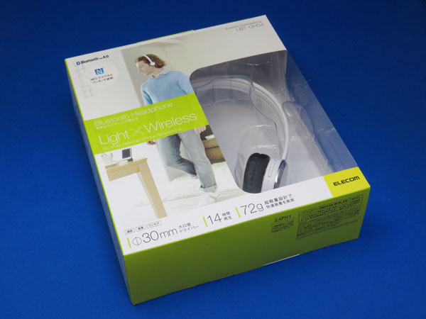 ELECOM Bluetooth ワイヤレスヘッドホン LBT-OH04WH