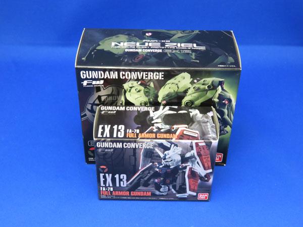 GUNDAM CONVERGE EX12 ノイエ・ジール & EX13 フルアーマーガンダム