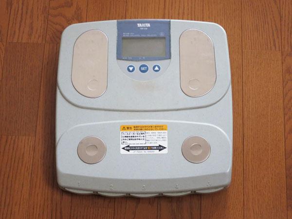 16年間使ってきたタニタの体重計