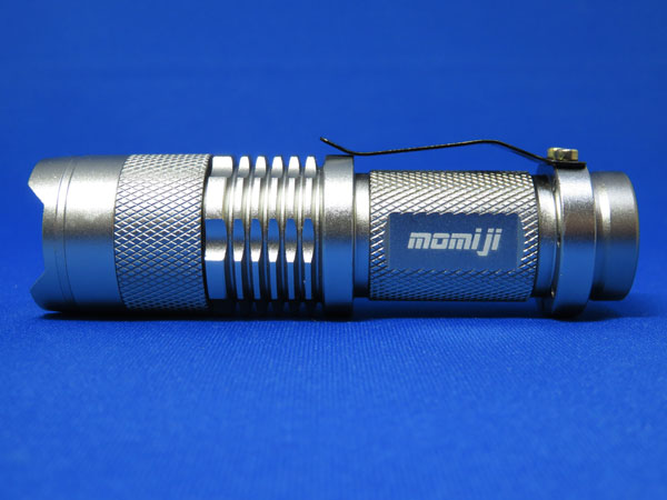 Momiji LEDハンディライト 黒銀 キーライト付き