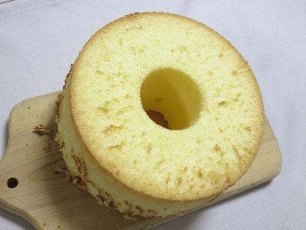 奥さん手作りシフォンケーキ