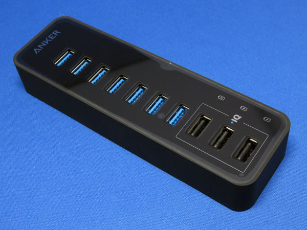 Anker 60W 7+3ポート USB3.0 データハブ