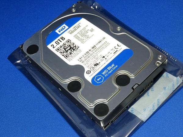 WD HDD 内蔵ハードディスク 3.5インチ 2TB WD Blue WD20EZRZ/AFP SATA3.0 5400rpm 64MB