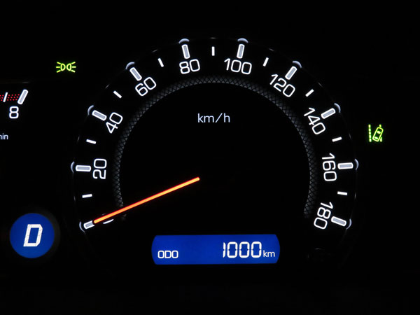 愛車ノア 走行距離1,000km到達!