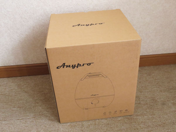 【レビュー記事】Anypro 超音波式 加湿器3.5L CF-2530A