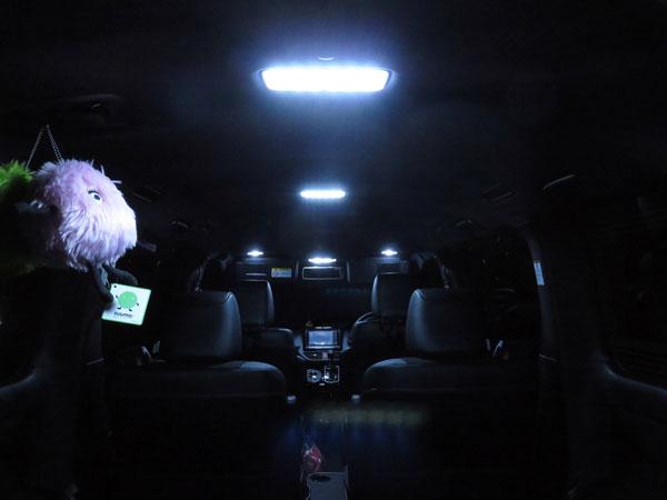 愛車トヨタノア80系のルームランプとナンバー灯をLED化する!