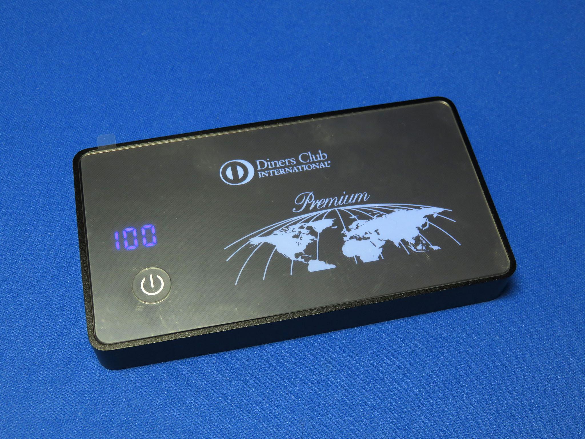 ダイナースクラブ ノベルティグッズ モバイルバッテリー