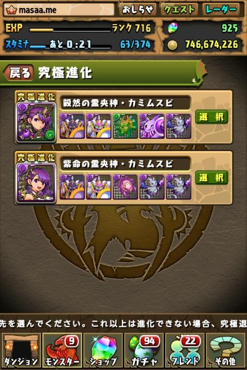【パズドラ】紫命の霊央神・カミムスビに究極進化!