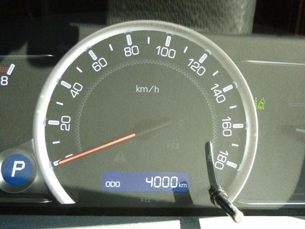 愛車トヨタノア80系の走行距離が4,000kmになりました!