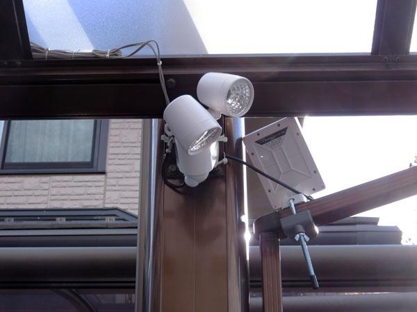 ソーラー式LEDセンサーライトの電池をエネループに入れ替える